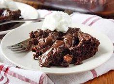 Salted Caramel-Chocolate Dump Cake Recipe | Just A Pinch Recipes