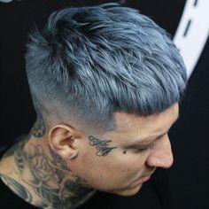 Dark Warm Grey hair color for men