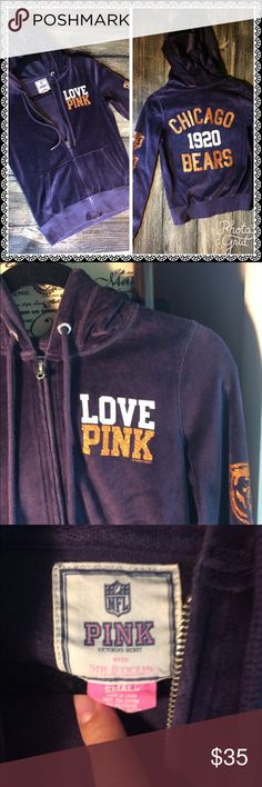 Pink Victoria Secret hoodie 💙 Pink Victoria Secret Good Used Condition ▫️Design  intact ▫️bundle and save for the best deal PINK Victoria's Secret Sweaters