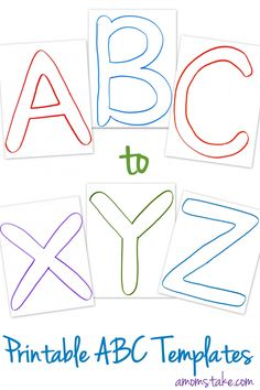 Free ABC Printable letter templates for preschool or learning activities at home - plus lots of ideas for how to use them!
