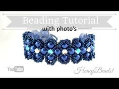 Lady Luck Bracelet Beading Tutorial by HoneyBeads1 (Photo tutorial) - YouTube Nvw:With montees and pearls