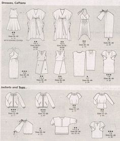 SMF Designs and Friends Burda Style 7/2017 Line Drawings
