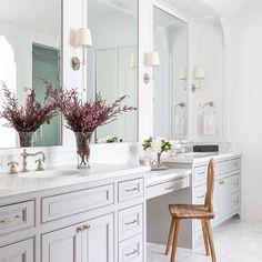 Camille Sconce in Antique Nickel with Natural Paper Shade Bathroom Renos, Bathroom Layout, Bathroom Interior Design, Bathroom Renovations, Home Interior, Master Bath Layout, Bathroom Makeovers, Interior Decorating, Decorating Ideas