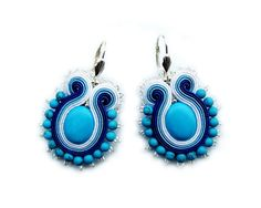 Soutache earrings - funny, sweet and perfect for the summertime - TURQUOISE KISS