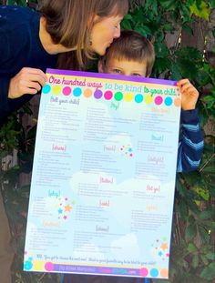 Poster+100+Ways+to+Be+Kind+to+Your+Child+18x24+by+CreativeWithKids,+$21.00