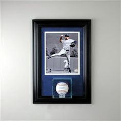 Wall Mounted Baseball Case With 8x10 Picture