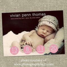 Great Idea to make some baby's cute photo calender ( I know it's announcement but I thought about it)