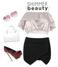 Shimmer Beauty by thenarshamissry on Polyvore featuring polyvore, fashion, style, River Island, Giuseppe Zanotti, Michael Kors, Minnie Rose and clothing
