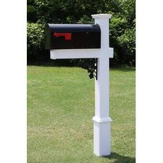 4EverProducts Mailbox with Post Included & Reviews | Wayfair Rural Mailbox, New Mailbox, Mailbox Post, Mailbox Ideas, Mailbox Garden, Mailbox Stand, Farmhouse Mailboxes, Rustic Mailboxes