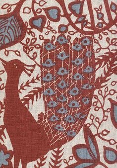 LEWIS & WOOD - Peacock Fabrics from our Big Prints range