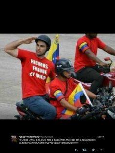 Los colectivos de la muerte presentándose ante su jefe, el Presidente Maduro. Y además despeja dudas sobre el pasado electoral.