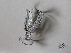 Absinthe Glass Drawing by Marcello Barenghi