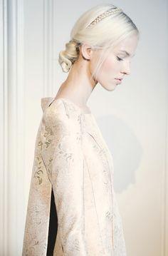 Sasha Luss backstage at Valentino Haute Couture Fall/Winter 2013