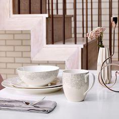 Monsoon Lucille Silver by Denby | Make a Home | Pinterest | John ...