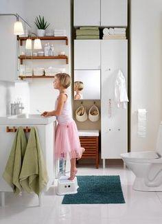 Soluciones de guardado para baños pequeños (FOTOS)