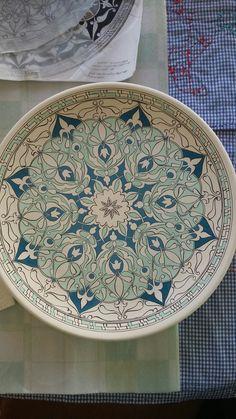 Blue Pottery, Pottery Plates, Glazes For Pottery, Ceramic Plates, Porcelain Ceramics, Ceramic Pottery, Pottery Sculpture, Sculpture Clay, Pottery Painting