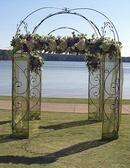Floral decorations for outdoor wedding at Ritz Carlton Reynolds Plantation Lodge at Lake Oconee