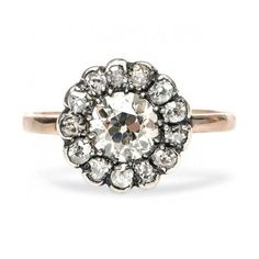 Savannah Hills is a stunning Edwardian vintage ring made from 14k rose gold. TrumpetandHorn.com // $7,250