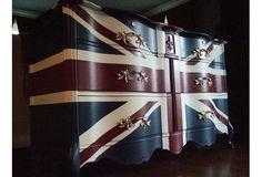 "French Provincial ""Waving"" Union Jack Dresser"