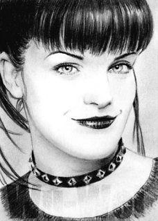 Pauley Perrette mini-portrait by whu-wei on deviantART
