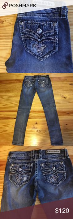 Rock Revival UFT Rock Revival Raven. Waist 28 inseam 31 skinny. Excellent condition Rock Revival Jeans Skinny