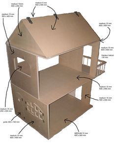 bricobilly - PLANS for amazing doll houses plus furniture (in French)