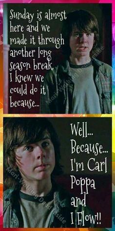 The Walking Dead, Memes, Carl Grimes, Carl Poppa
