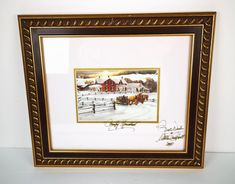 Walter Campbell Autographed House Country Homestead Victorian Framed 2005 Soon be gone Victorian Frame, Victorian Homes, Red Bricks, Winter House, Homestead, Canada Eh, Country, Handmade Gifts, Art Print