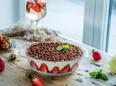 Čokoládový pečený cheesecake s orechami   CrispyWorld Acai Bowl, Ale, Cheesecake, Pudding, Breakfast, Food, Acai Berry Bowl, Morning Coffee, Ale Beer