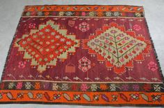 Turkish Kilim Rug 6''x4'8'' Feet 186x150