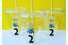 Set of 24 - The Minions Party Cups, Popcorn Cups, Despicable Me Birthday Party