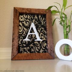 Monogram Sign Personalized Monogrammed Lace by LumberwaveCreations, $29.95