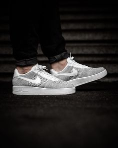 Nike Air Force 1 Ultra Flyknit Low Cool Grey White White 0