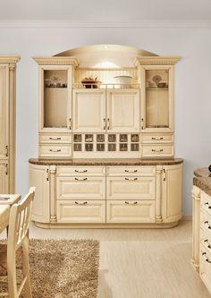 Rustikální kuchyňská linka Harmonia v provedení dýha jasan drásaný krémový.