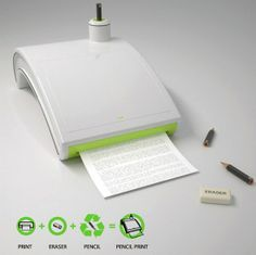 Eco Friendly Pencil Printer Allows you to delete the prints