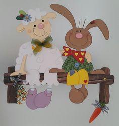 Fensterbild Hase und Schaf- Frühling - Ostern-Küche-Dekoration - Tonkarton! 7
