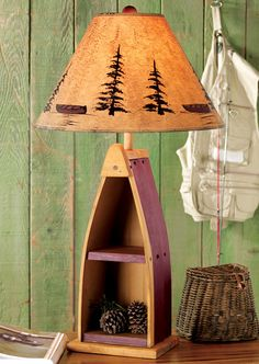 Black Forest Decor- Canoe Shelf Table Lamp