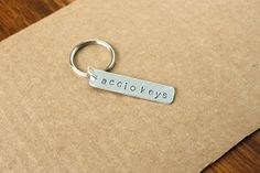Harry Potter Accio Keys Keychain by GeekTags on Etsy, $7.00 WANT