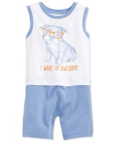 ab4555154c3331 First Impressions Baby Boys  Wake Up Awesome Sunsuit