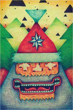 Special Christmas artwork by Noper. Christmas Artwork, Fine Art Prints, Santa, Animation, Illustration, Character, Illustrations, Animation Movies, Anime