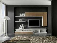 Resultado de imagen para muebles de tv modernos Living Room Bedroom, Living Room Decor, Backdrop Tv, Tv Wall Cabinets, Muebles Living, Tv Decor, Home Decor, Entertainment Wall, Tv Unit Design