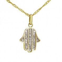 Main de Fatma - Khamsa - Pendentif Main de Fatma - PE217 pendentif, plaqué argent, plaqué or, chaîne, pendentif, oriental, bijou, bijoux,