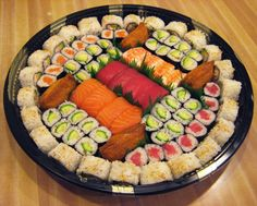 PARTY PLATTER IDEAS | Sushi Platters can be ready in one hour, but preferably order ahead of ...