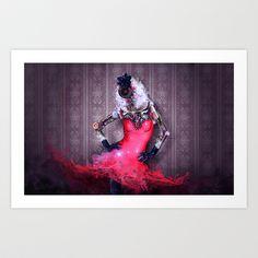 Miss Red Art Print by robert palmer - $22.88