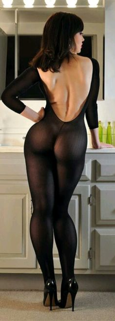 ASTV-Beautiful black hosiery in amazing curves;tight booty and swell legs...