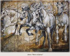 artist Elise Genest / 'Mares of Epirus' /  >click on pic to bring you to horsesinart.com site to see more of her work & info on the artist.