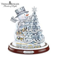 Thomas Kinkade Home For The Holidays Sculpture Love It!!