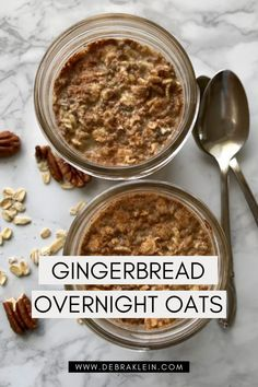 This easy healthy Gingerbread Overnight Oats recipe is the ultimate in a grab and go option. Make your healthy morning routine easy with this simple recipe. Easy Meal Prep, Easy Meals, Healthy Morning Routine, Recipe Mix, Overnight Oats, Plant Based Recipes, Food Print, Gingerbread, Healthy Recipes
