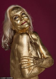 Bond girl Shirley Eaton recreates her most famous look for MailOnline | Daily Mail Online