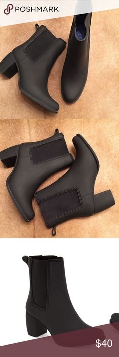 Jeffrey Campbell Clima Chelsea Rain Boot These Boot are nice! They feature a Heeled Boot which adds height as well as sass! Demonstrate your sense of style even in the rain!! Jeffrey Campbell Shoes Winter & Rain Boots